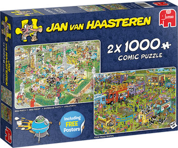 Jan van Haasteren - BBQ Feest! + Food Truck Festival (2 x 1000)