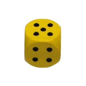Dobbelsteen 16mm - Geel