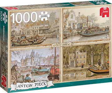 Anton Pieck - Boten in de Gracht (1000)