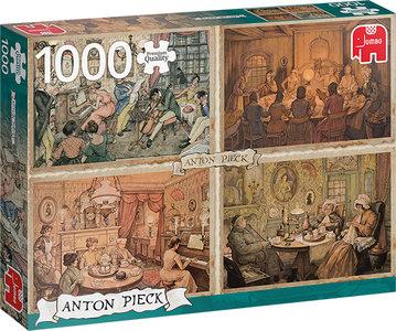 Anton Pieck - Vermaak in de Woonkamer (1000)